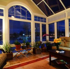 Glass cathedral sunroom