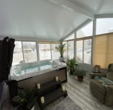 Solid Roof Sunroom Hot Tub Enclosure