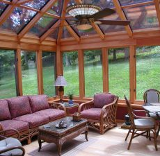 PAsunrooms completed sunrooms with wood accents
