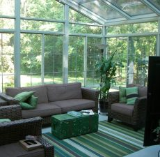 Cathedral style sunroom, fully furnished