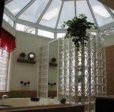 Conservatory style bathroom
