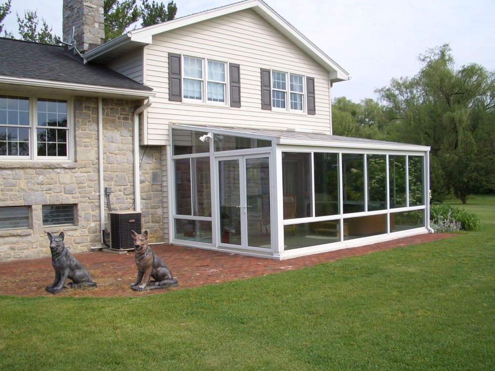Install A Glass Roof Sunrooms Curved Eave Straight Roof Studio