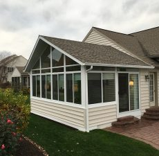 solid roof cathedral sunroom installed by pasunrooms