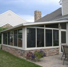solid rood sunroom installation by pasunrooms